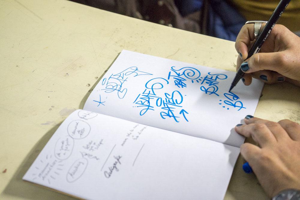 taller tagging caligrafía 2018 javier abarca